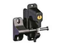 Key lock and magnetic pool safety latch